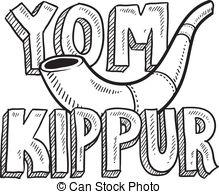 ... Yom Kippur Jewish holiday sketch - Doodle style Jewish.