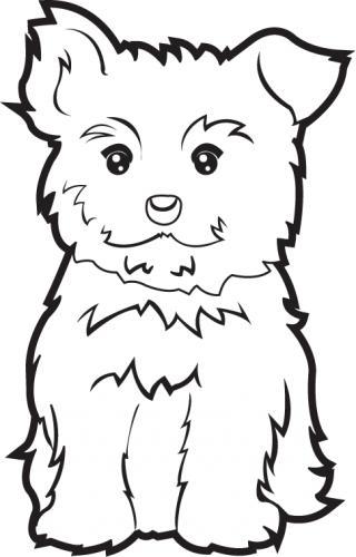 Yorkie Puppy Black Clipart-Yorkie Puppy Black Clipart-7