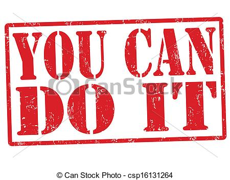 You Can Do It Grunge Rubber S - We Need You Clip Art