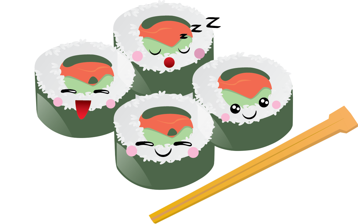 You Can Use This Cartoon Sushi Clip Art -You can use this cartoon sushi clip art done in kawaii style on your personal or commercial projects. Spruce up your Japanese projects, food blogs, ...-15
