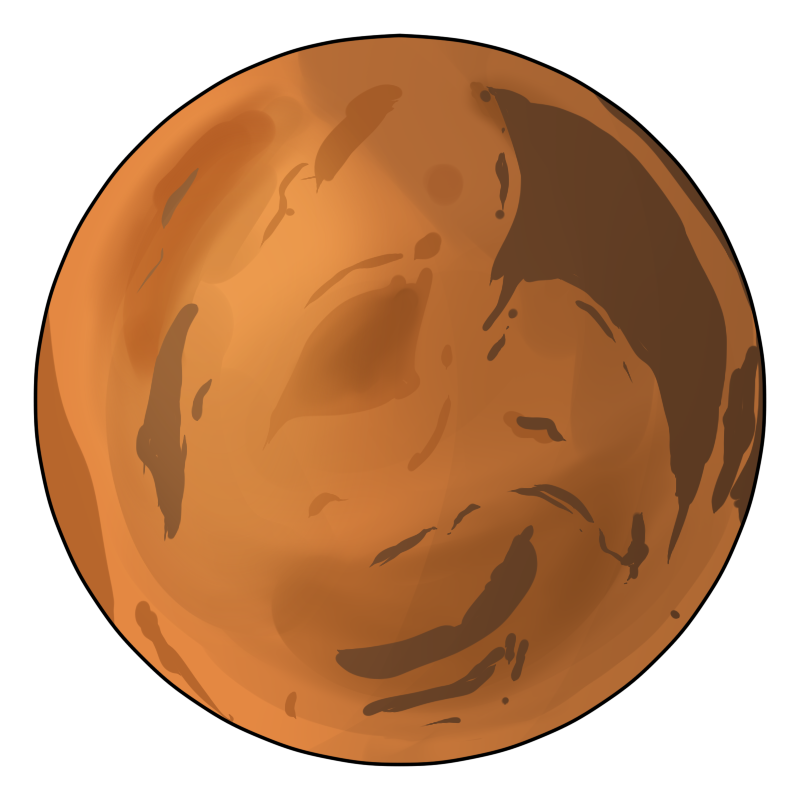 You Can Use This Clip Art Of The Red Pla-You can use this clip art of the red planet Mars on your space projects, magazines, books, websites and blogs, school projects, scrapbooks, reports, ...-17