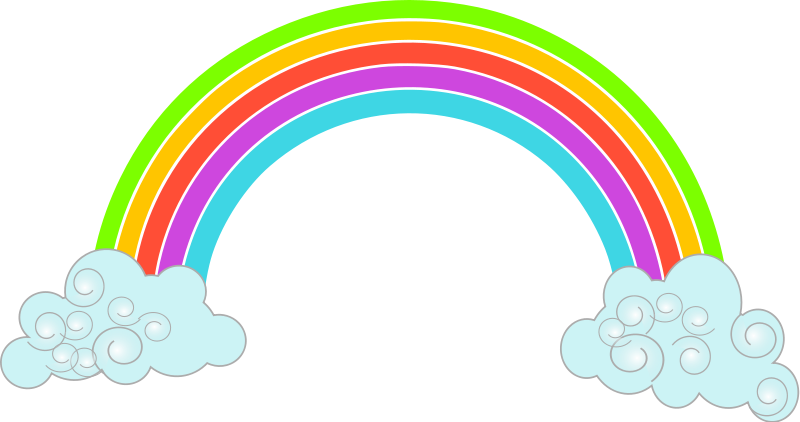 You can use this cute colorful rainbow c-You can use this cute colorful rainbow clip art on your personal or commercial projects. This clip art belongs to the public domain so use it freely on your ...-14