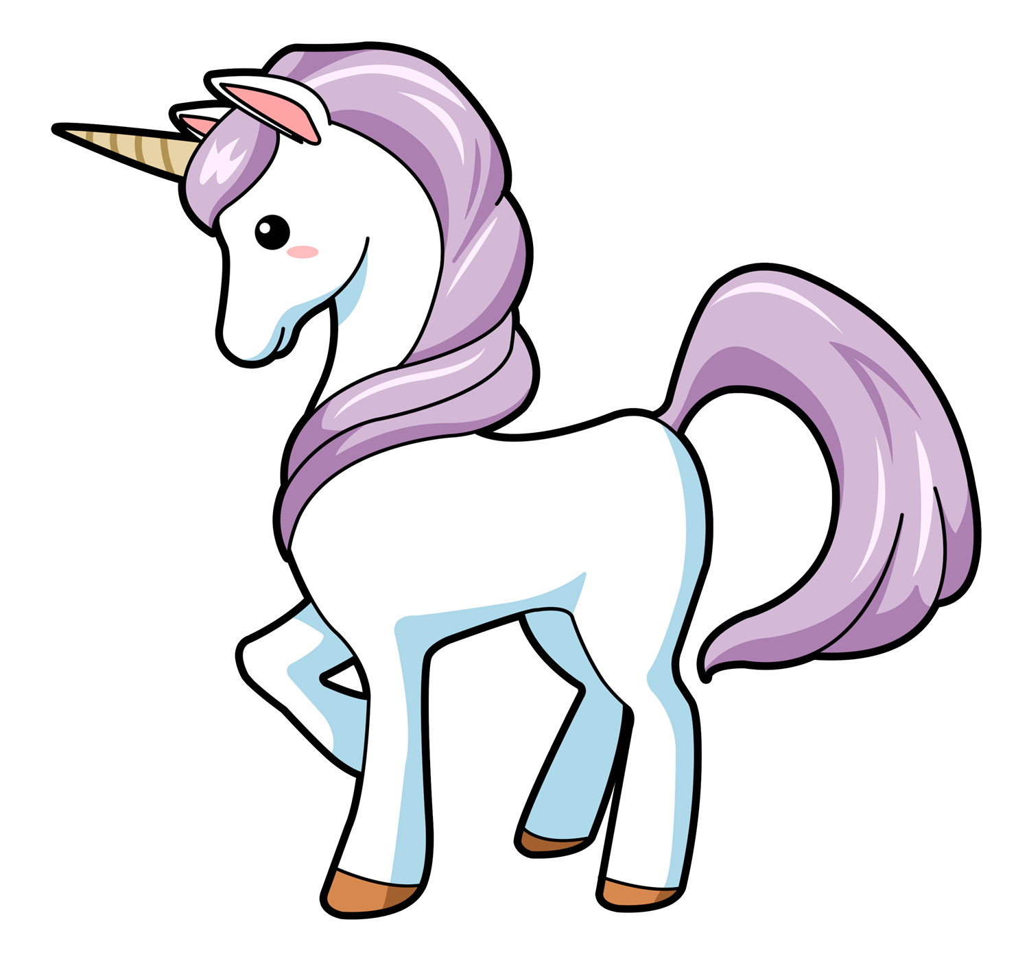 You Can Use This Lovely Cartoon Unicorn -You can use this lovely cartoon unicorn clip art on your personal or commercial projects. Add life to your fantasy projects, storybook illustrations, ...-19