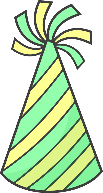 You can use this party hat clip art on your party related projects. Use this clip art to add spice to your birthday projects like invitations, gift tags, ...