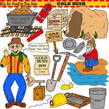 You donu0026#39;t have to go to California to get gold!! You can get gold right here with this cute Gold Rush clip art set! Get these images to decorate your lesson