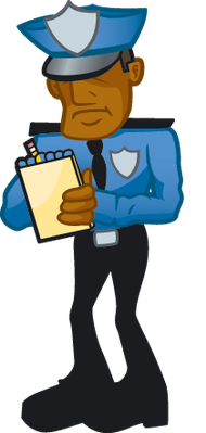 You might also like. Cop Writing Ticket | Clipart