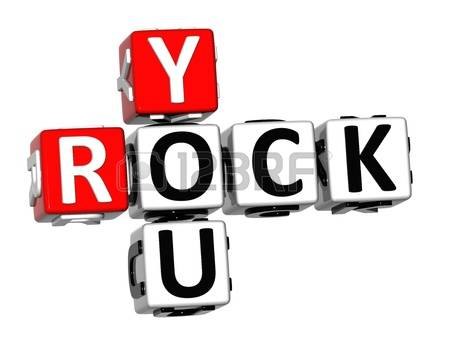 you rock: 3D Rock You Crossword on white-you rock: 3D Rock You Crossword on white background-7