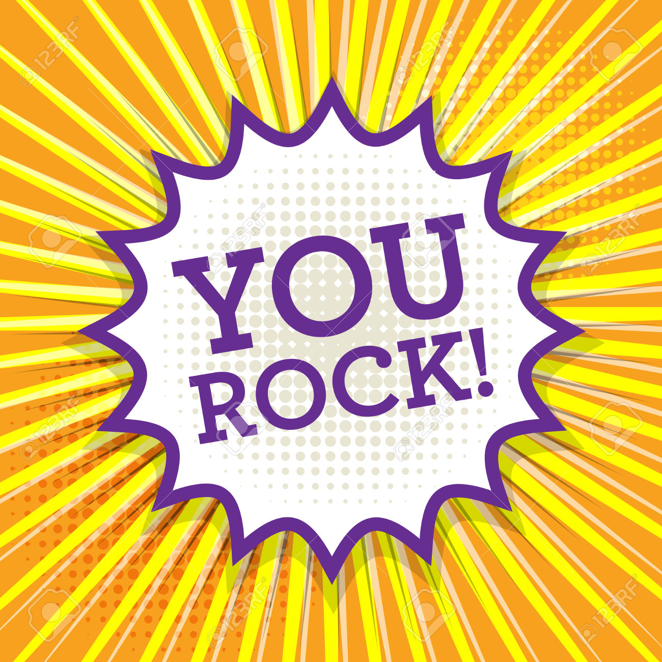 you rock: Comic book explosion with text-you rock: Comic book explosion with text You Rock, vector illustration-11