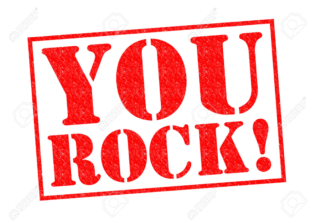 YOU ROCK! red Rubber Stamp over a white -YOU ROCK! red Rubber Stamp over a white background. Stock Photo - 27416503-14