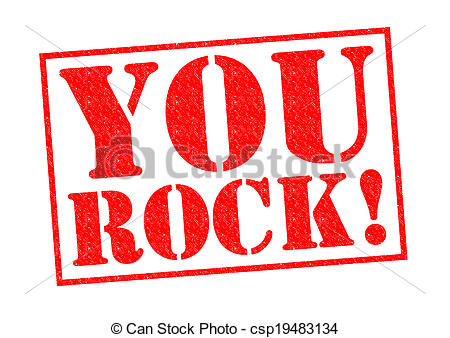 ... YOU ROCK! red Rubber Stamp over a wh-... YOU ROCK! red Rubber Stamp over a white background.-8