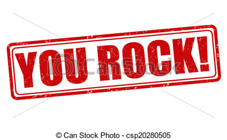 ... You rock stamp - You rock grunge rubber stamp on white.
