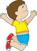 Young Boy Jumping For Joy Stock Illustra-Young Boy Jumping For Joy Stock Illustrations Gograph-9