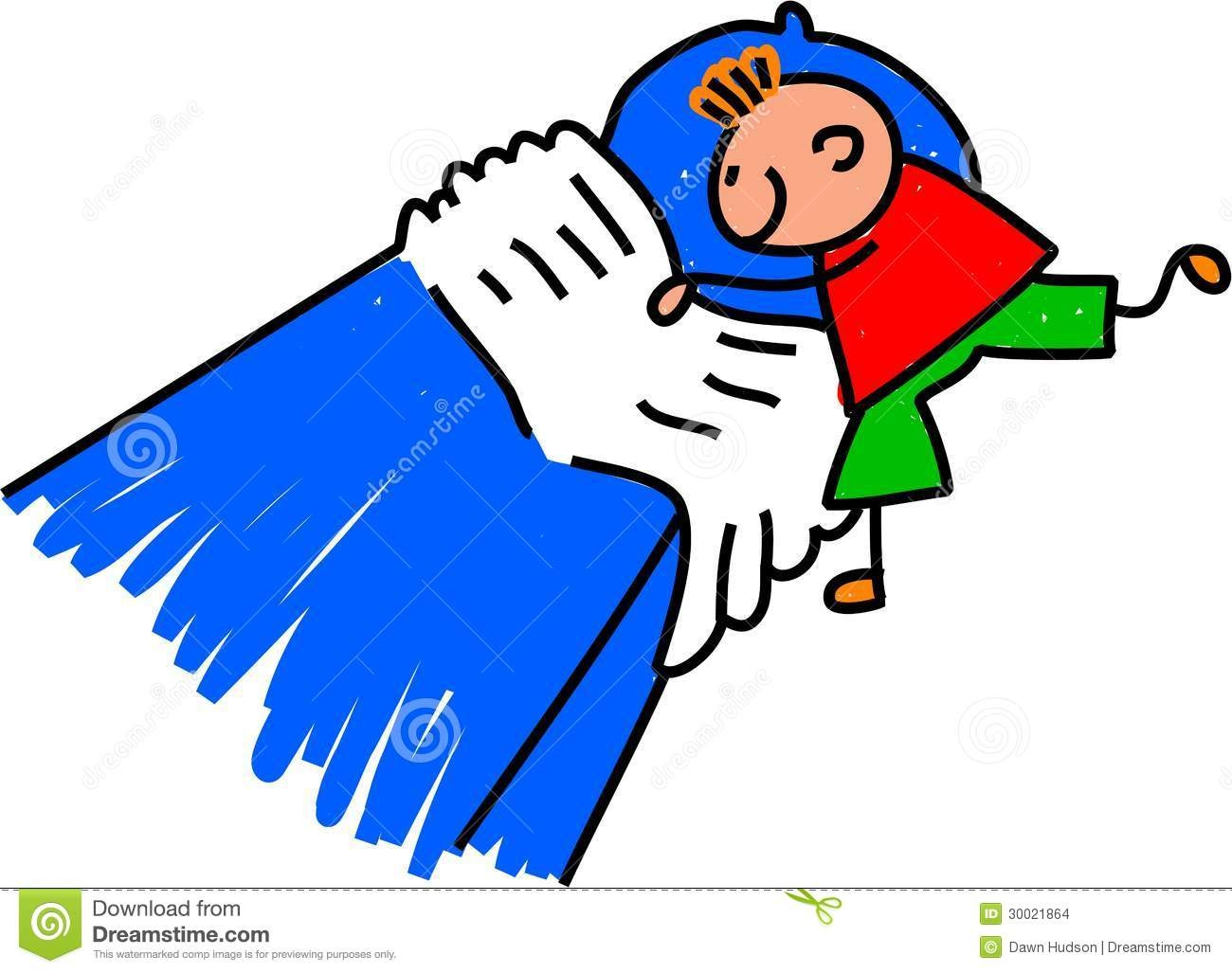 Young Boy Making Bed - Make Bed Clip Art