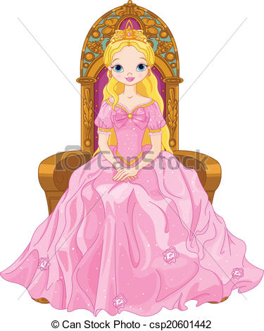 ... Young queen - Illustration of young -... Young queen - Illustration of young queen sitting on the.-17