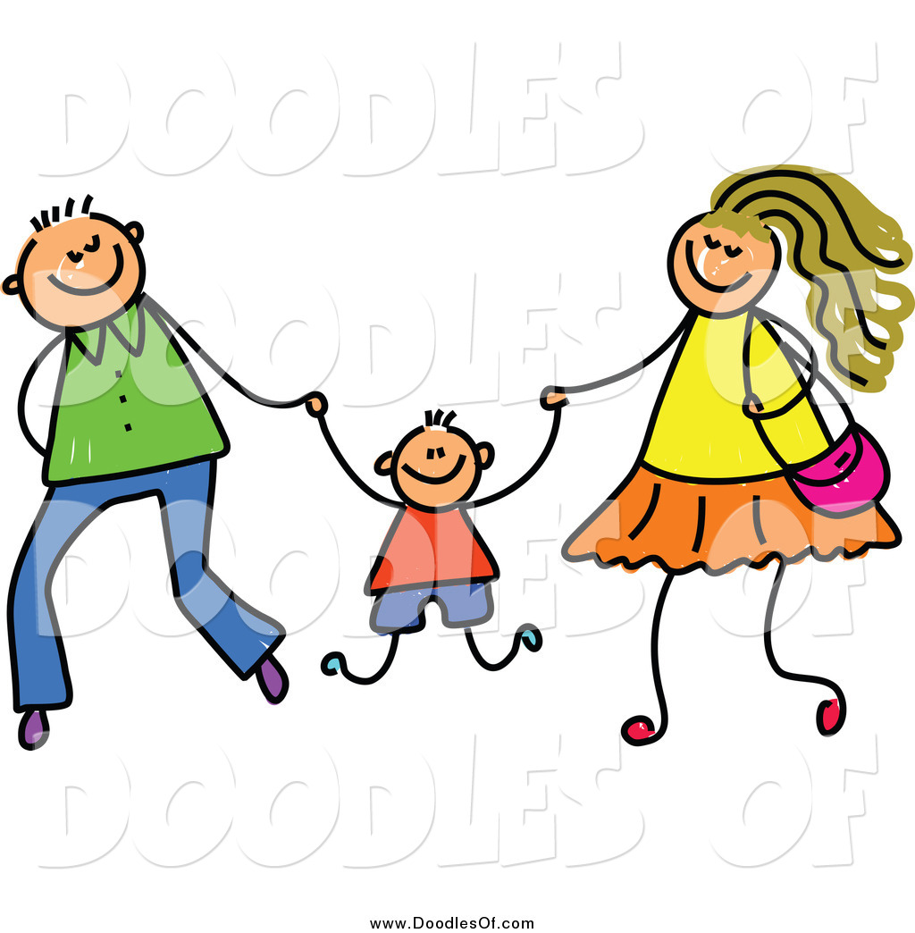 Your Mom Or Dad. Vector Clipart Of A Doo-Your Mom or Dad. Vector Clipart of a Doodled .-18