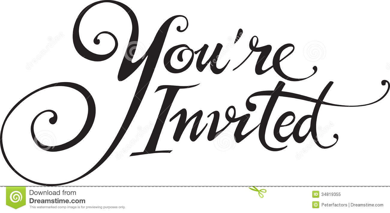 Youre Invited Royalty Free Stock Photo Image 34819355
