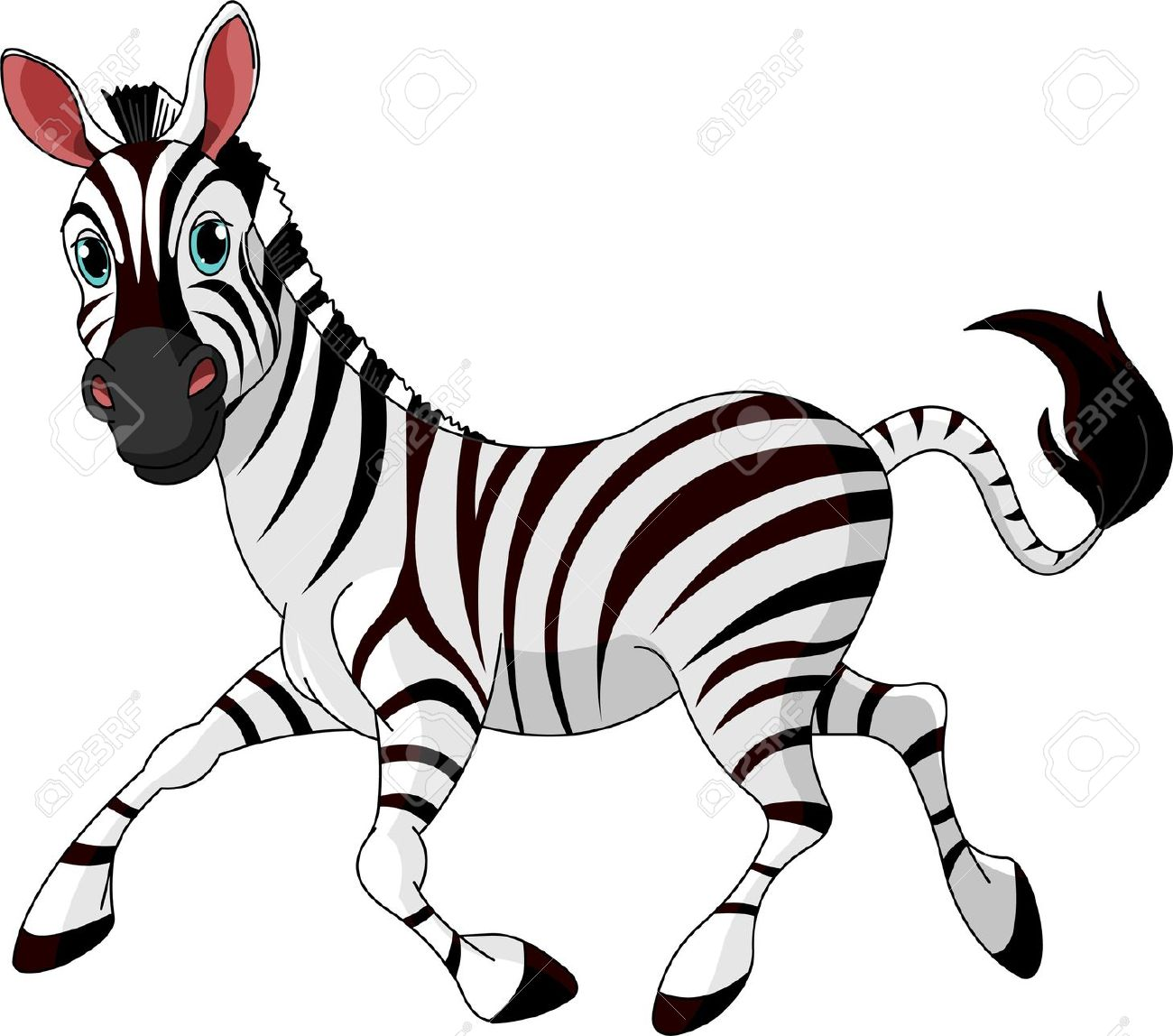 cute zebra clipart