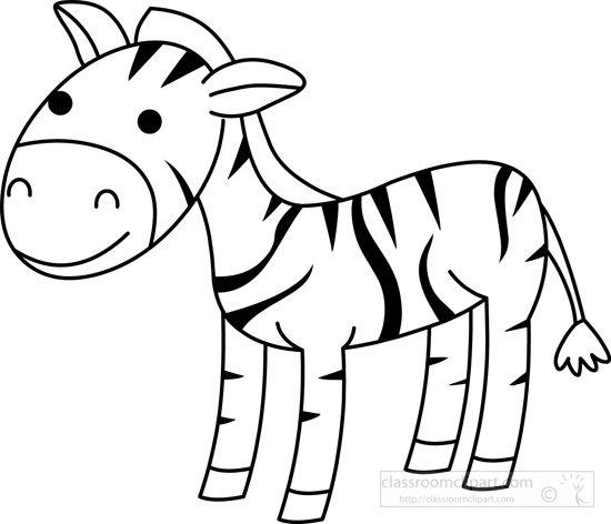 Zebra-black-white-outline .-zebra-black-white-outline .-14
