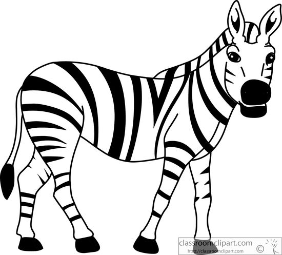 zebra clipart. 4f12ffe58583c1 - Zebra Clip Art