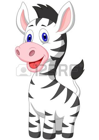 zebra: Cute baby zebra cartoon Illustration