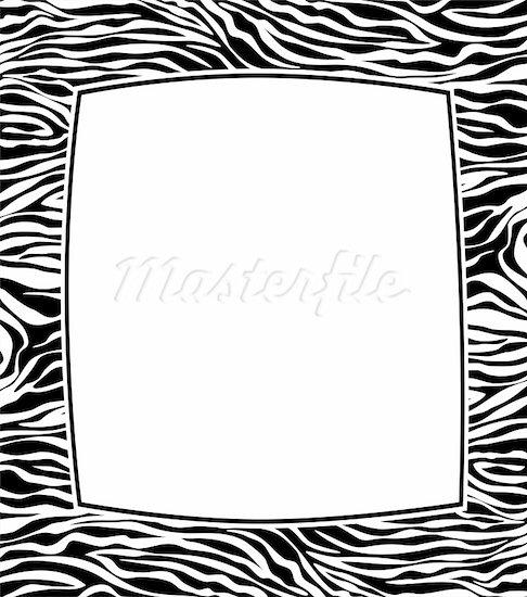 Zebra Print Border: Clip Art, Page Border, and Vector Graphics. 400-05709774w.jpg