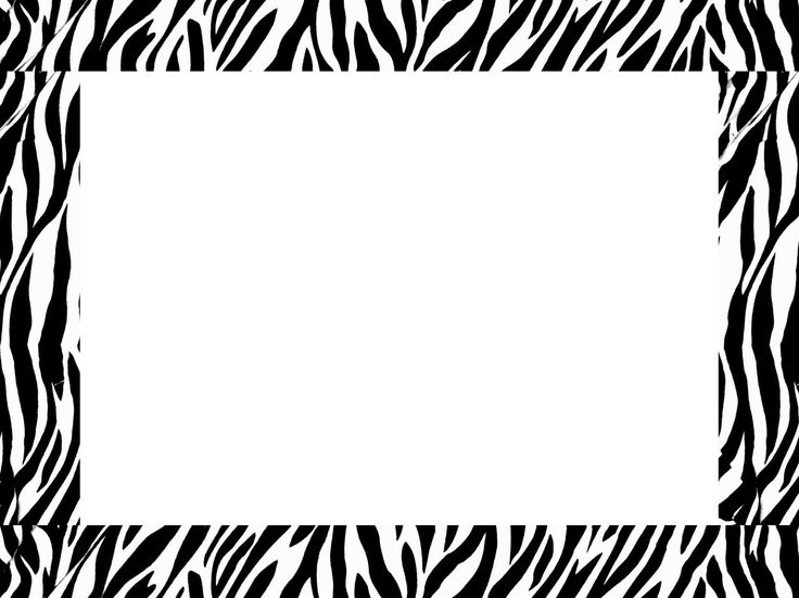 Zebra Print Border Clip Art. Pin by Tatiana on Frame. | Clipart library