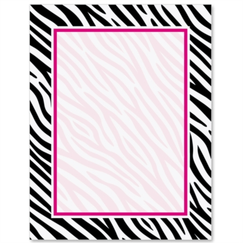 ... Zebra Print PaperFrames Border Papers | PaperDirect ...