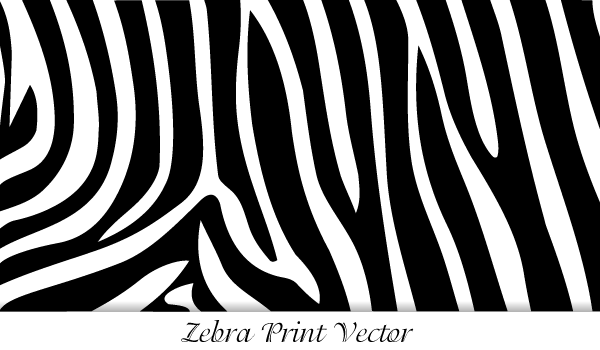 Zebra Print Vector Art | 123Freevectors