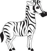 Zebra Size: 90 Kb - Zebra Clipart Black And White