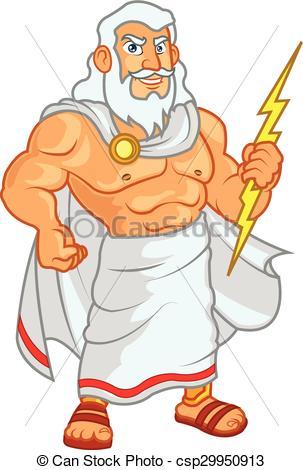 Zeus Clip Art Vectorby Malchev0/17; Zeus Cartoon - Vector Illustration of Zeus God Holding.
