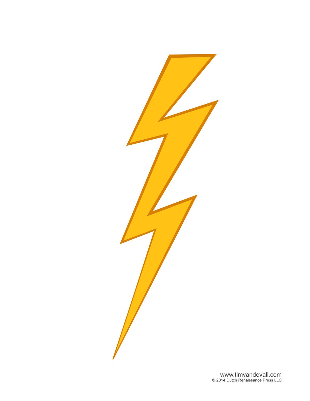 Zeus lightning bolt clipart