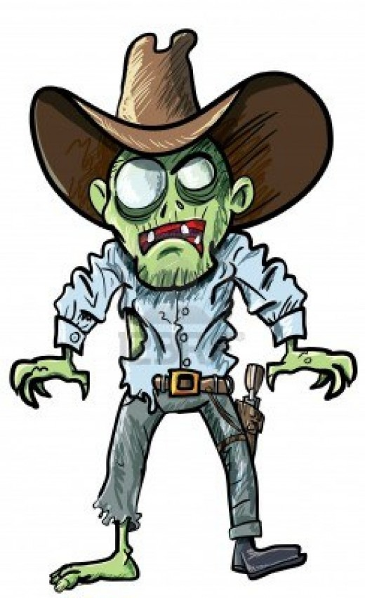 Zombie clerk clip art at .