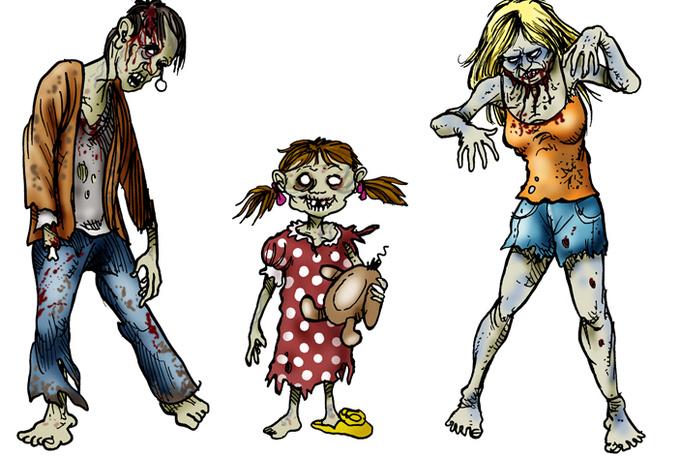 Zombie clipart kid 2