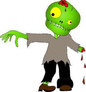Zombie clipart kid