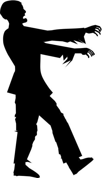 Zombie Silhouette Clipart Medium Size