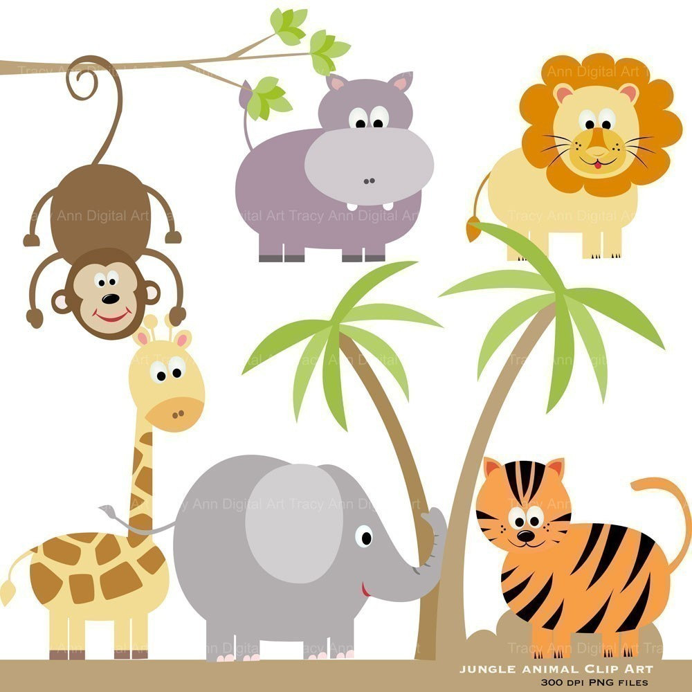 Zoo Animals Clipart Free Larg - Zoo Animal Clip Art