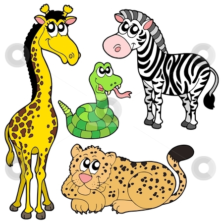 Zoo Animals Collection 2 Stock Vector Clipart Zoo Animals Collection