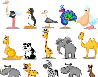 Zoo christmas animals clipart - ClipartFest