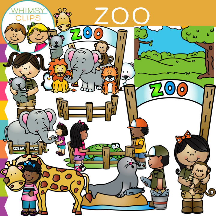 Zoo Clip Art Bundle .