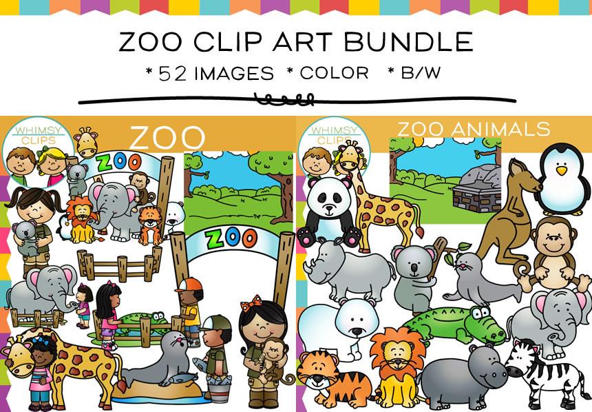 Zoo Clip Art Bundle-Zoo Clip Art Bundle-9