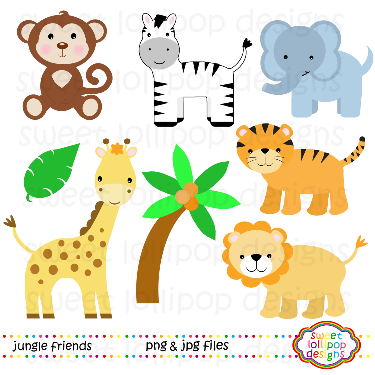 8 Baby Jungle Animals Clipart Clipartlook