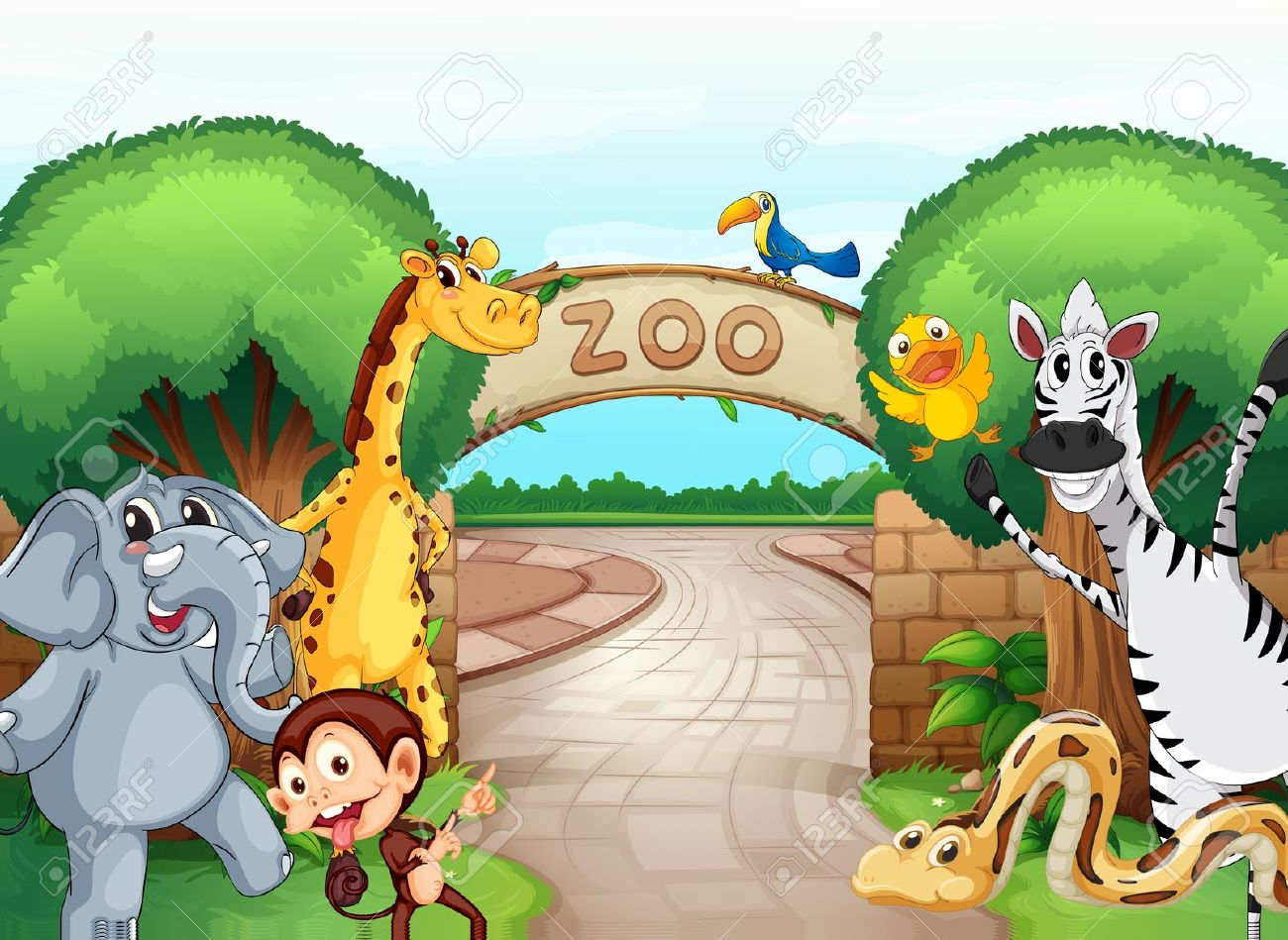 Zoo Gate: Illustration Of A .-zoo gate: illustration of a .-16
