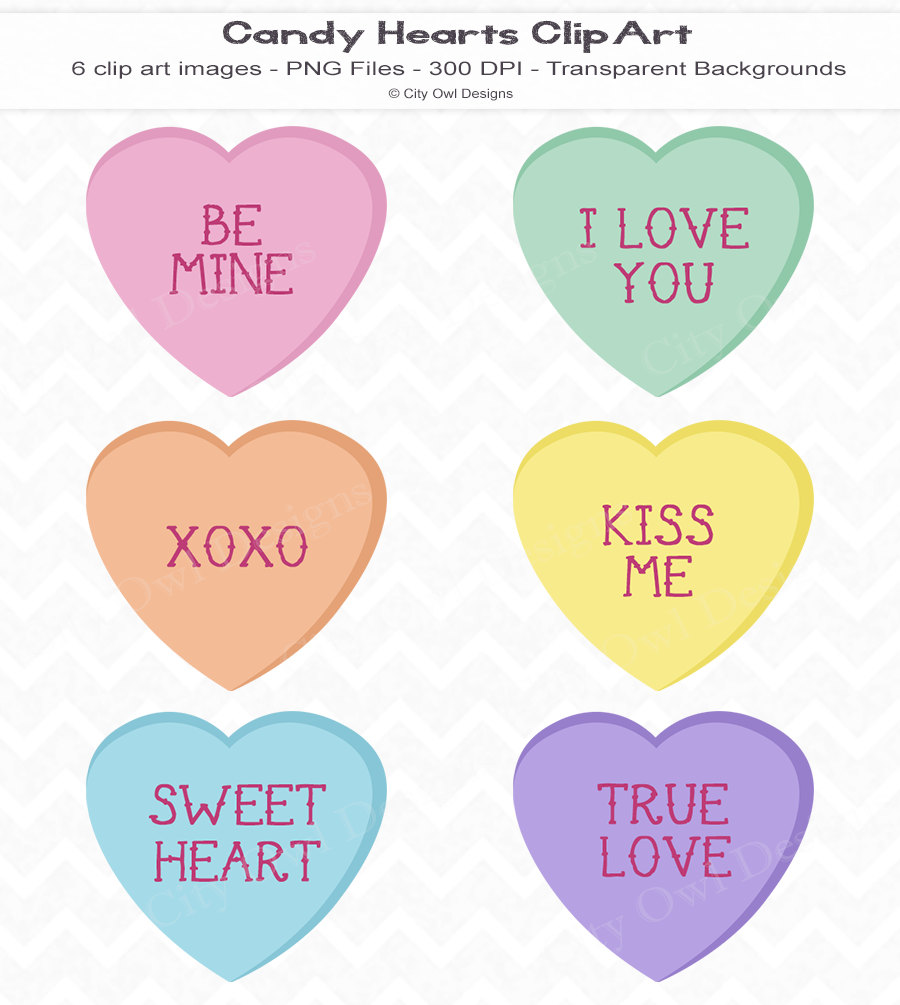 Candy Heart Clipart--19