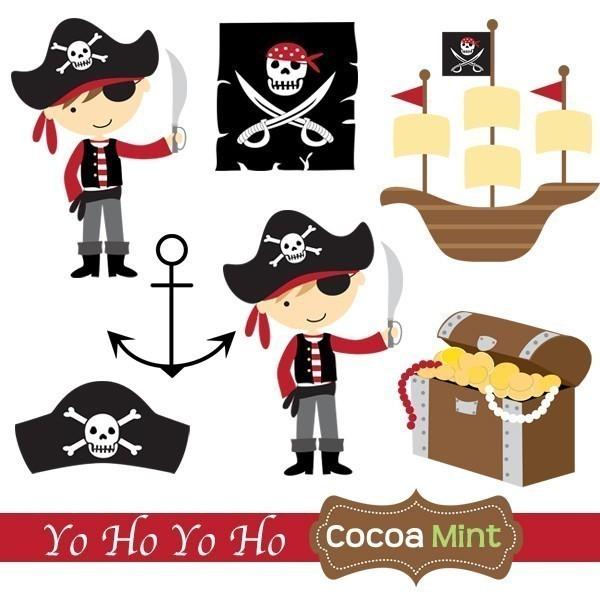 Cute Pirate Clipart--19