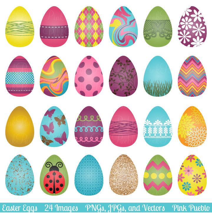 Easter Eggs Clipart--7