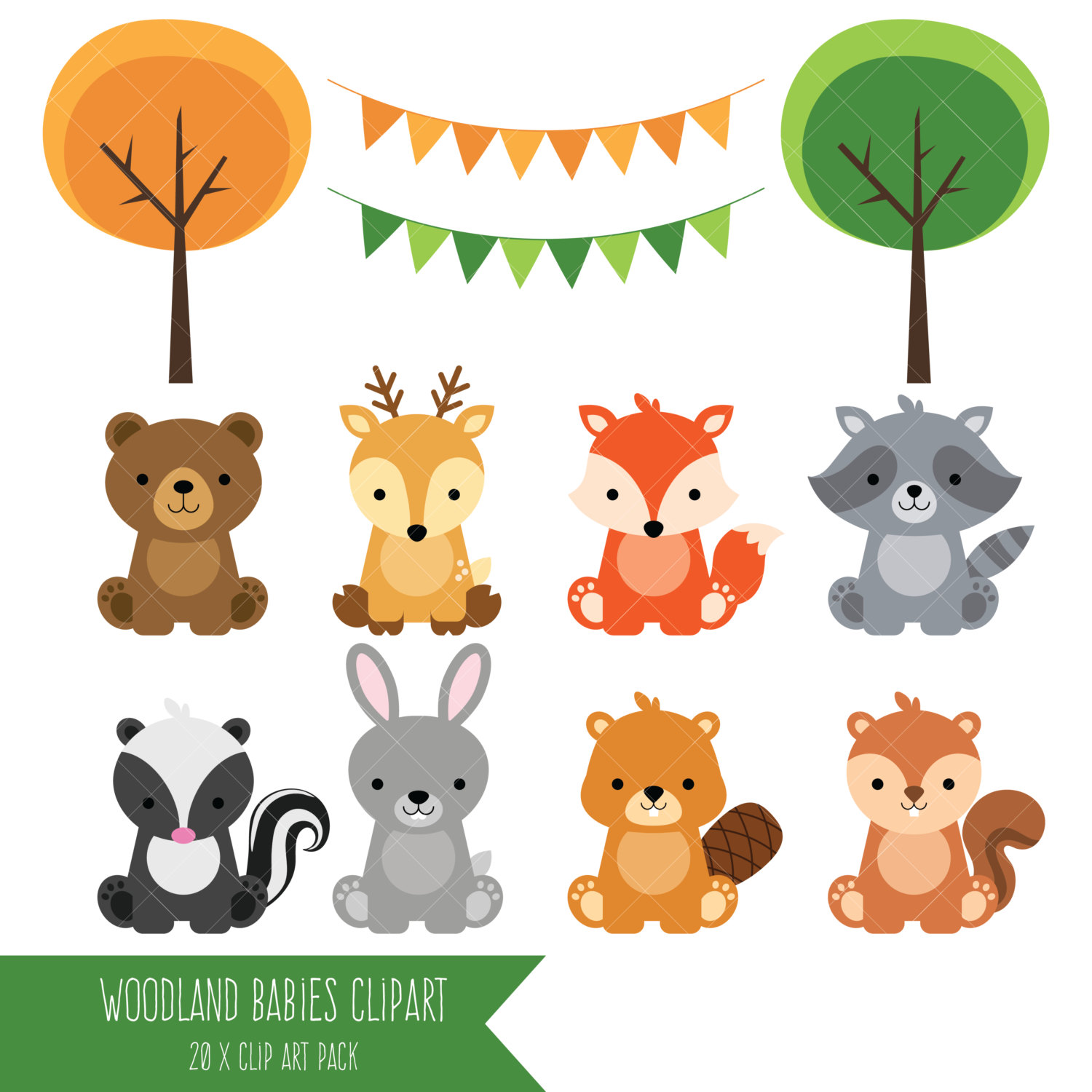 Forest Animals Clipart--17