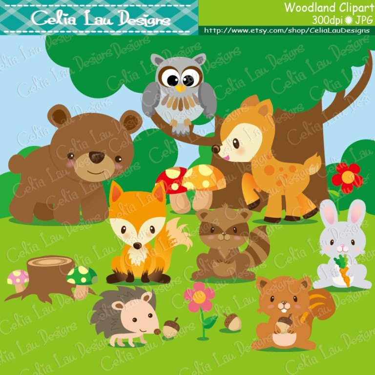 48+ ... Forest Animals Clipart | ClipartLook