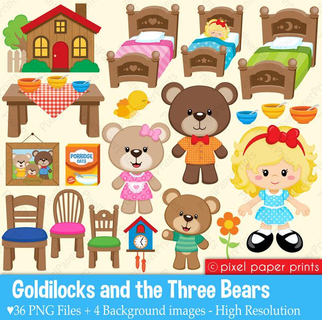 Goldilocks Clipart--19
