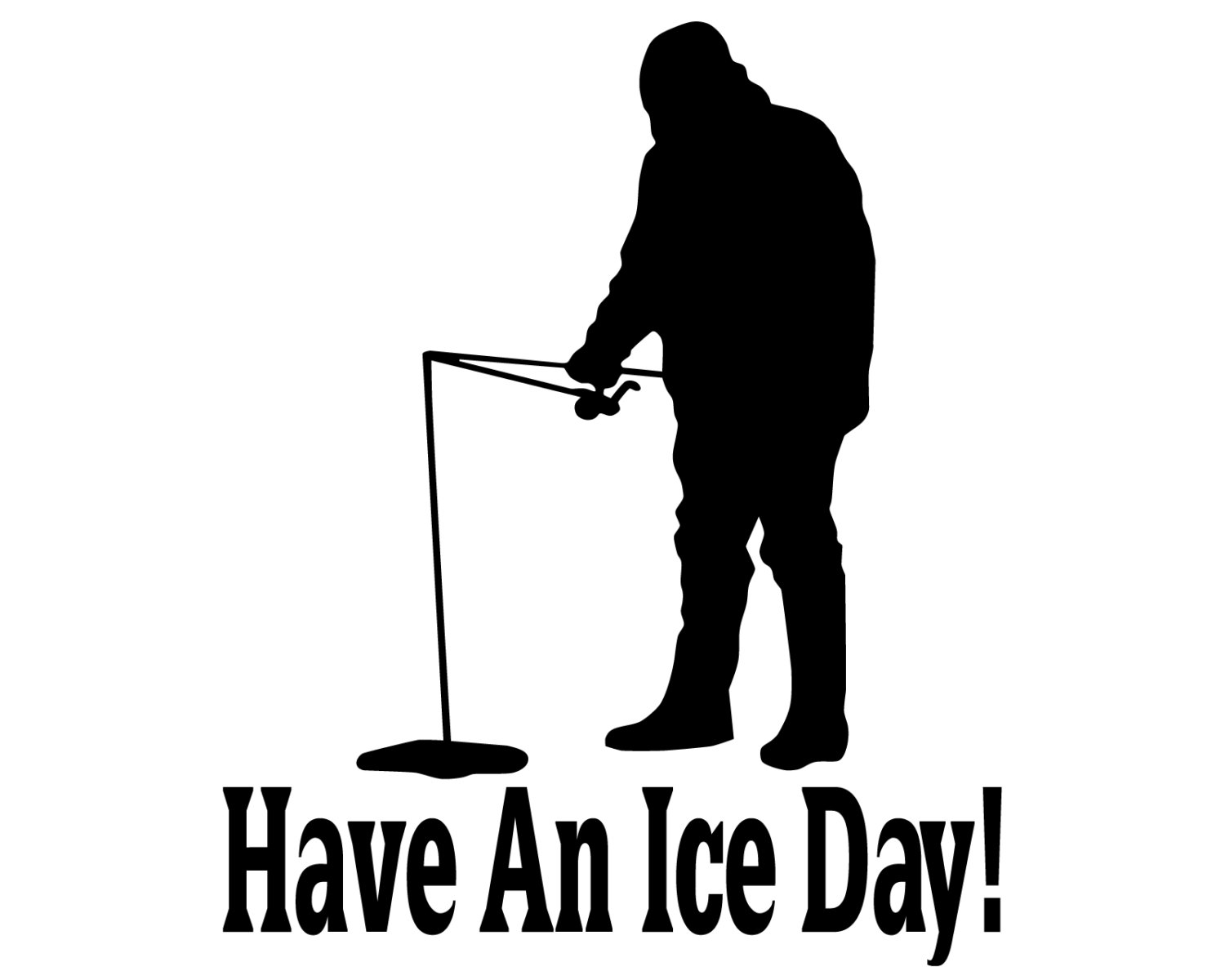 Ice Fishing Clipart--10