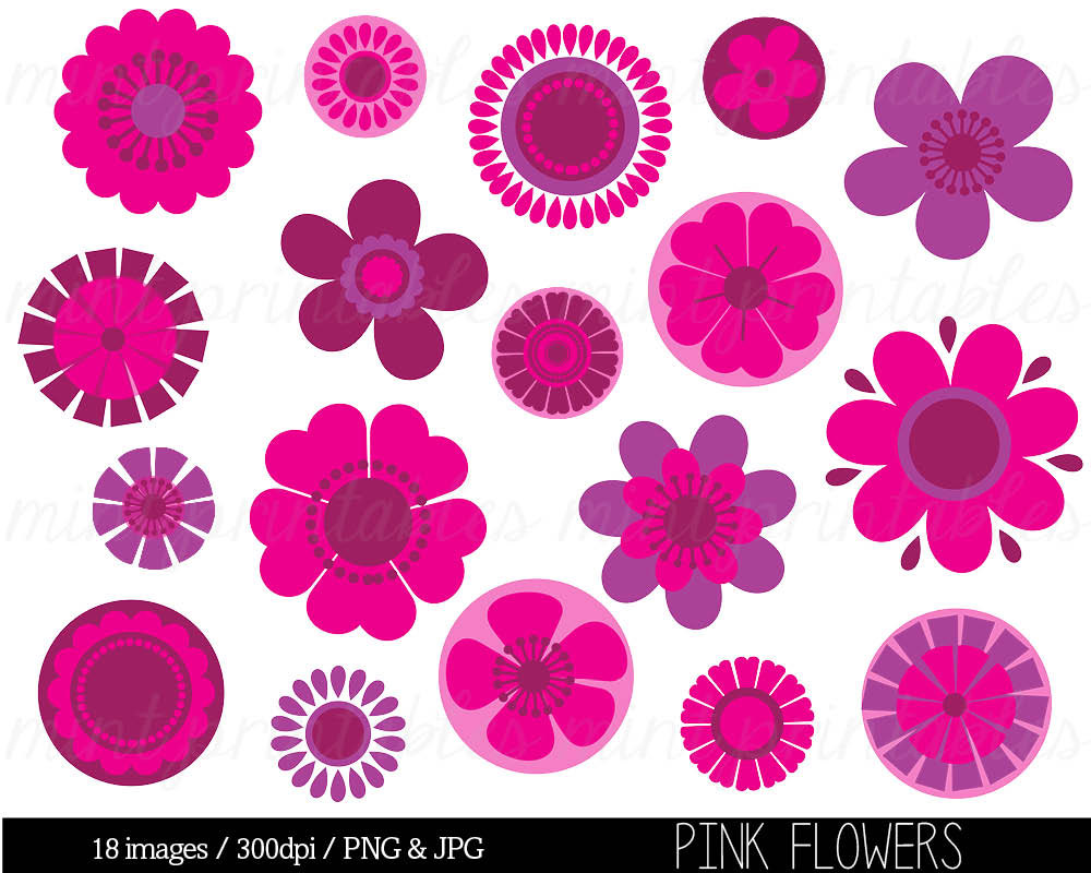 Pink Flowers Clipart Look At Clip Art Images Clipartlook
